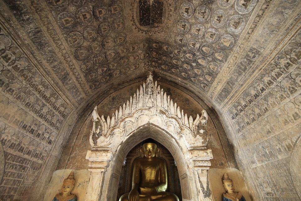 Bagan: Pagode bei Dorf Minnanthu