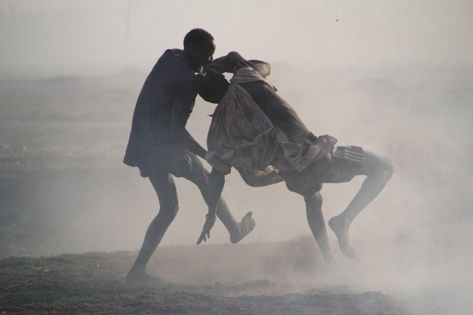 spontaner Ringkampf bei den Mundari