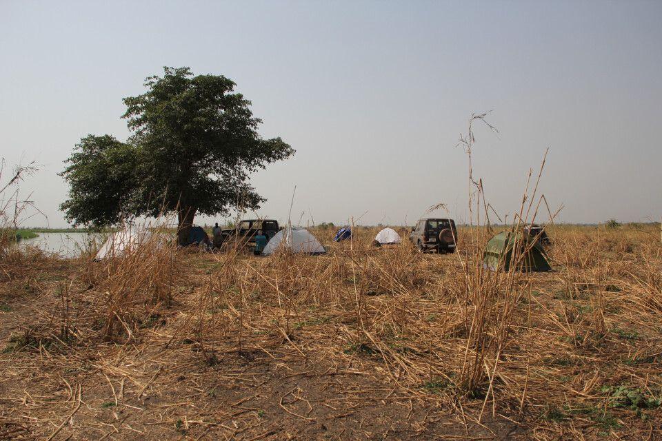 unser Zeltlager am Nil