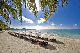 Strandzugang des Thai House Beach Resort