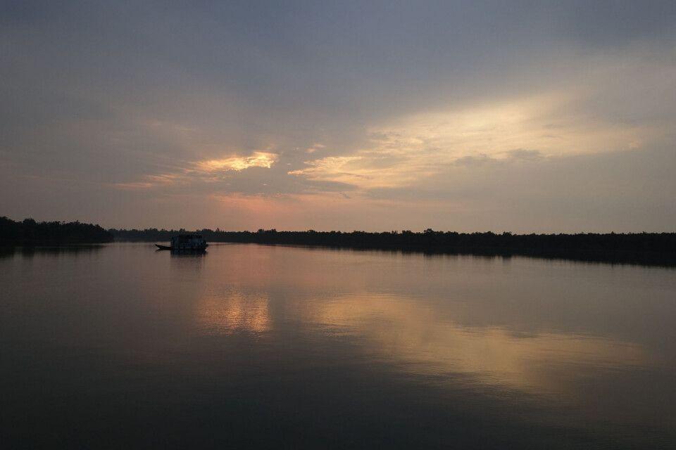 Sonnenuntergang in den Sundarbans