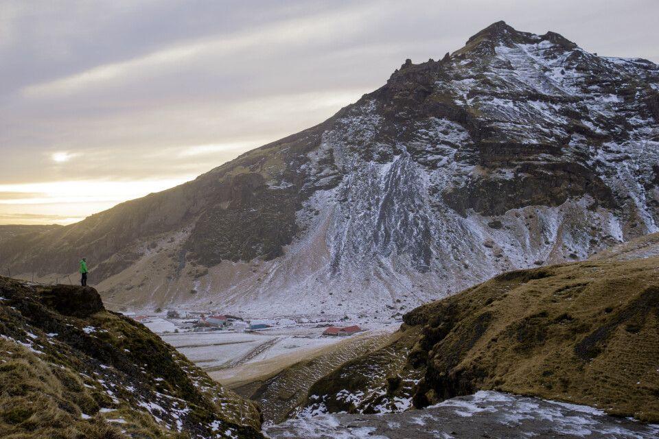 Am Skógafoss in Südisland