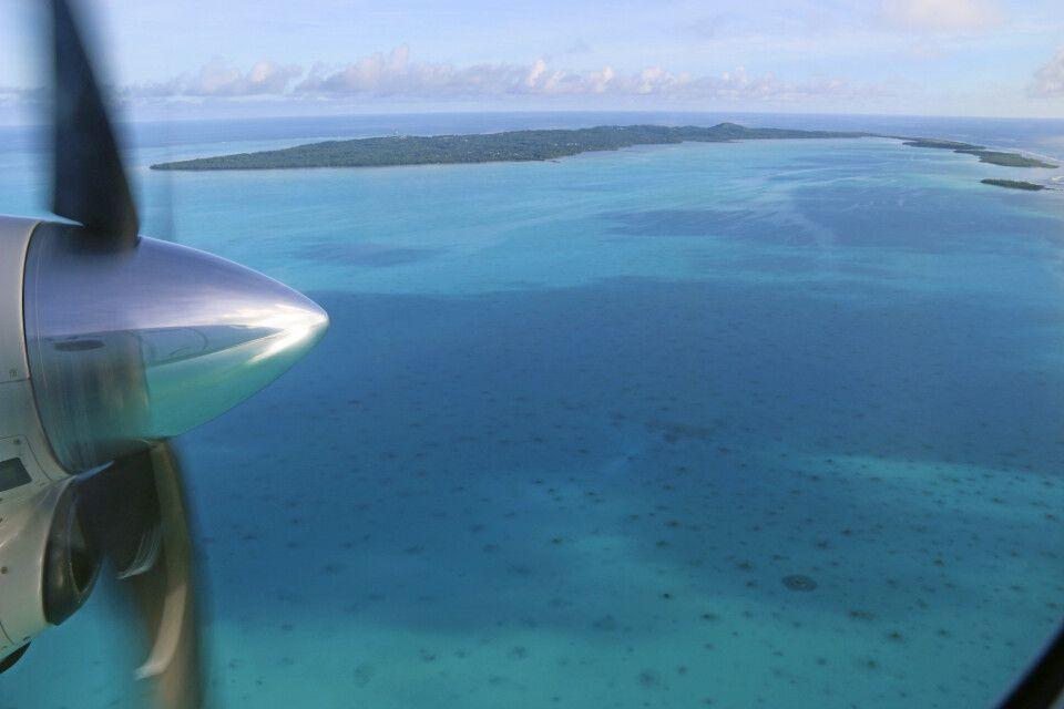Landenaflug auf Aitutaki