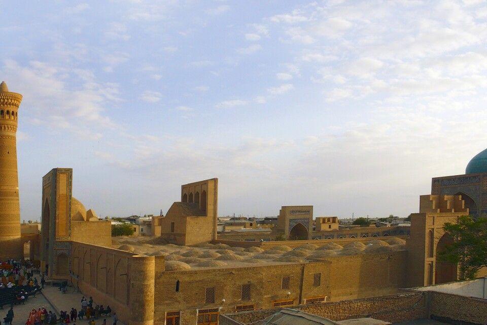Blick über Altstadt von Buchara