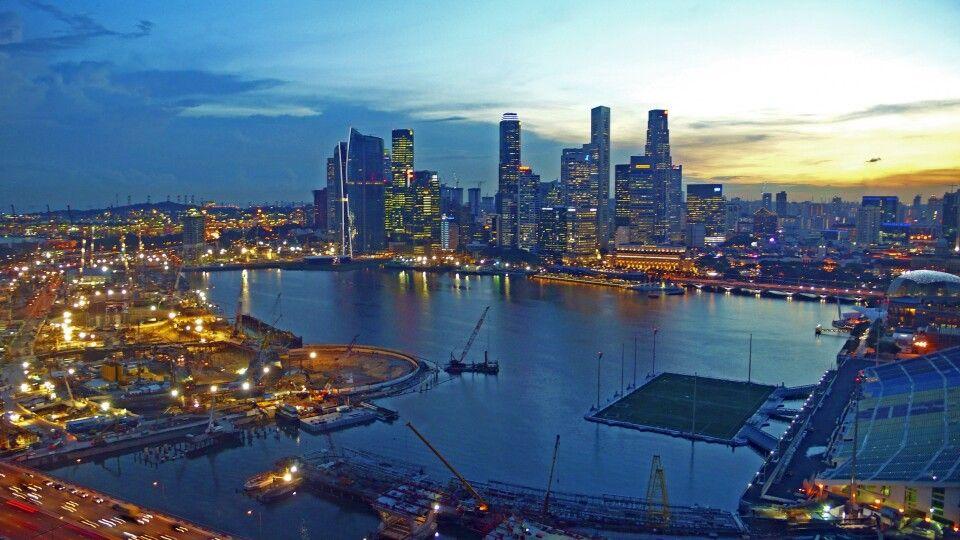 Singapur bei Nacht
