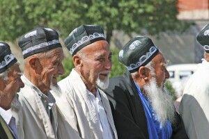 Gruppe alter Usbeken