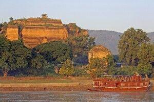 Mandalay vom Fluss aus gesehen
