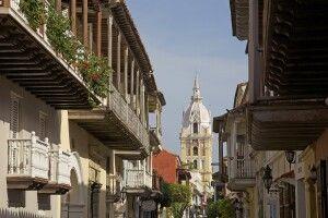 Koloniales Zentrum von Cartagena im Norden Kolumbiens