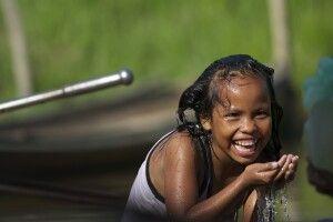 Amazonas-Bewohnerin